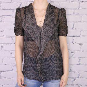 Aritzia Babaton 100% silk short sleeve blouse r3